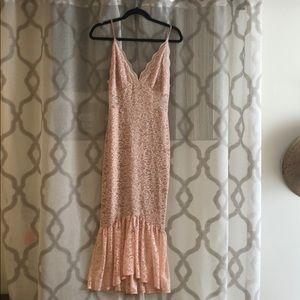 NWT ASOS tall lace plunge pephem midi dress